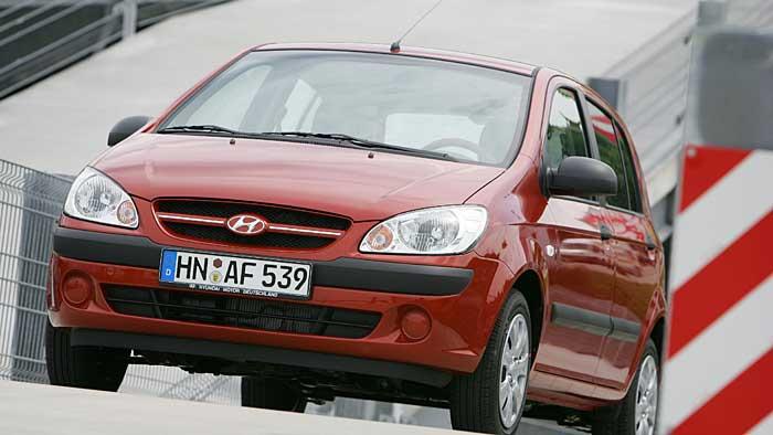 Der Hyundai Getz präsentiert sehr zuverlässig.