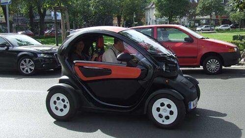 Mit dem Renault Twizy durch Berlin.