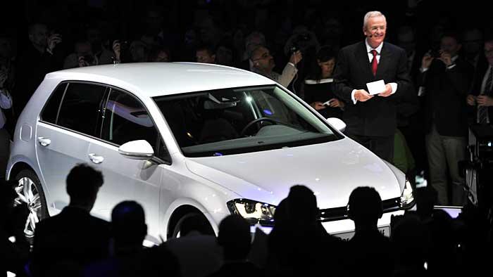 VW-Chef Martin Winterkorn bei der Weltpremiere des VW Golf 7.