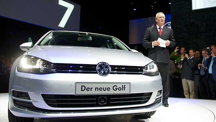VW-Chef Martin Winterkorn bei der Weltpremiere des VW Golf VII.