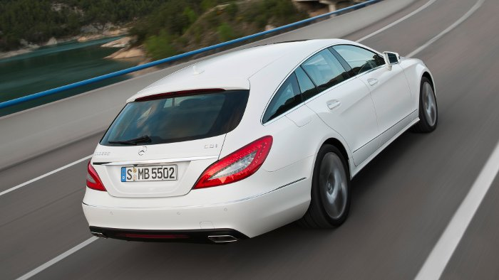 Das Heck des Mercedes CLS Shooting Brake.