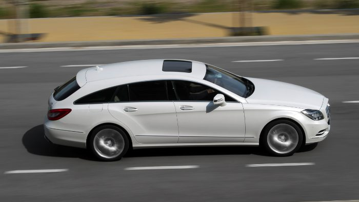Die Seitenline des Mercedes CLS Shooting Brake.