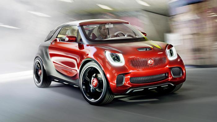 Das Konzeptfahrzeug Smart Forstars wird in Paris präsentiert.