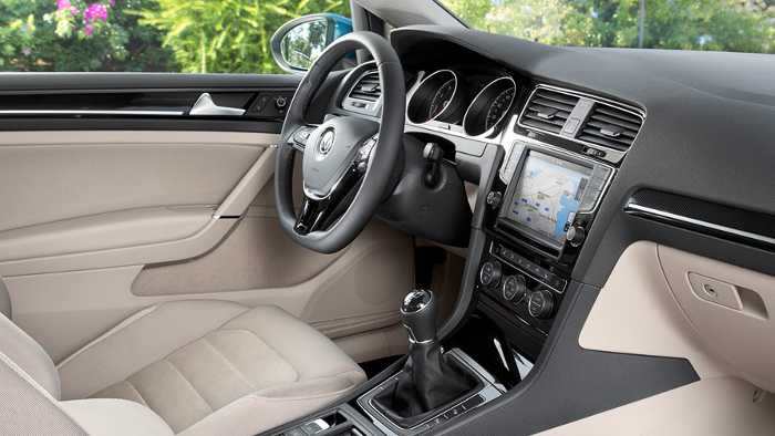 Innenraum im neuen VW Golf VII.