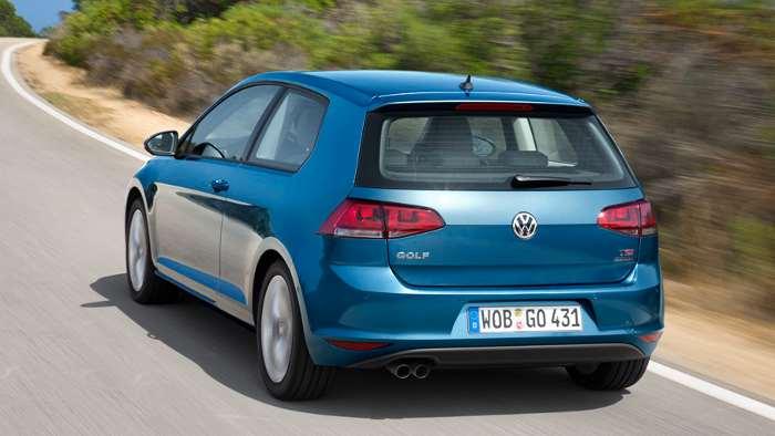 Das Heck des VW Golf VII