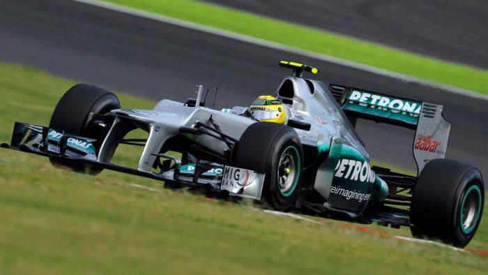 Formel 1-Pilot Nico Rosberg im Mercedes.