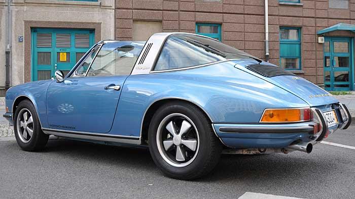 Auch der Porsche Targs S benötigt Winterpflege.