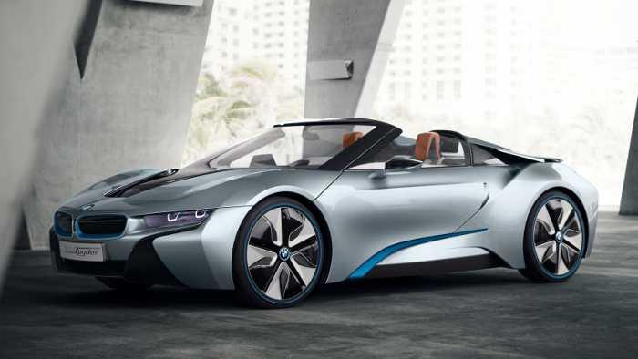 Der BMW i8 Spyder.