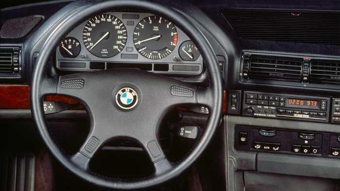 Innenraum im BMW 750i, untern E32 genannt.