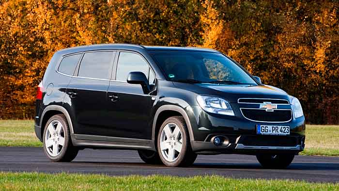 Der Chevrolet Orlando erhält einen sparsameren Benziner.