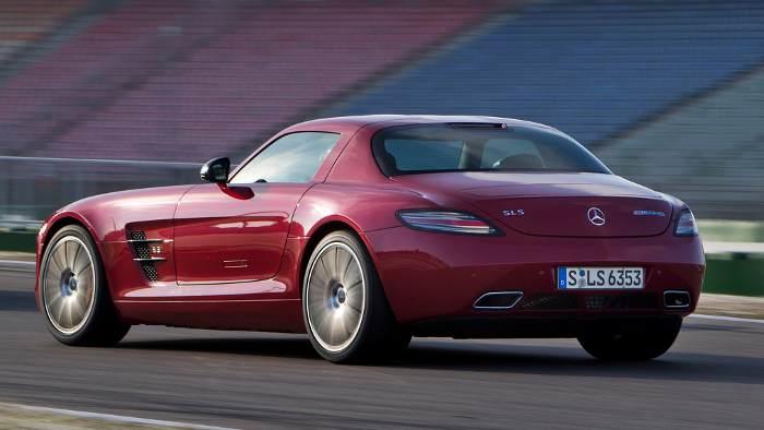 Das Heck des Mercedes SLS GT.