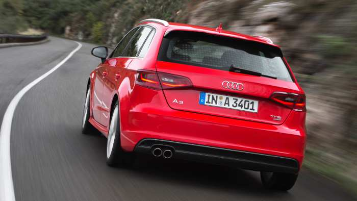 Das Heck des Audi A3 Sportback