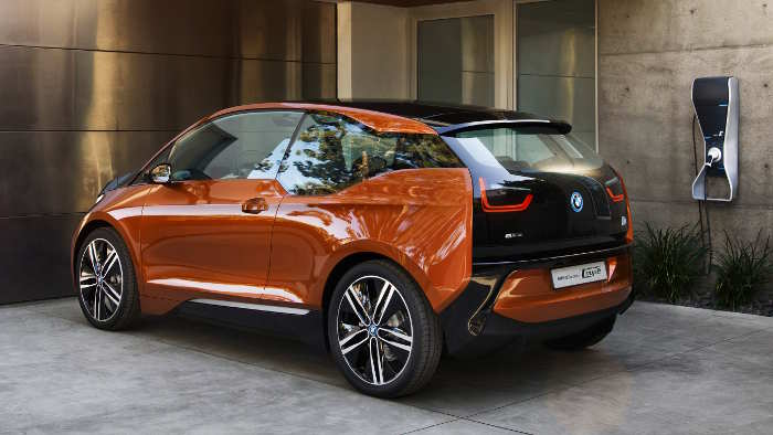Das Heck des BMW i3 Coupe.