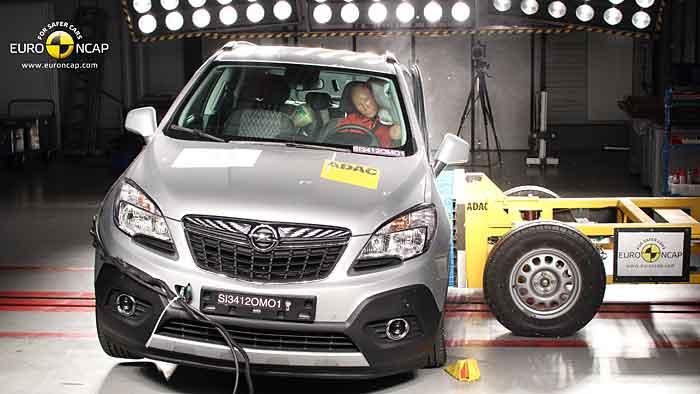 Der Opel Mokka erhielt fünf Sterne beim EuroNCAP-Crashtest.
