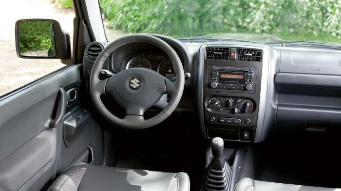 Der Innenraum des Suzuki Jimny.