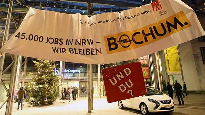 Belegschaftsversammlung im Opel-Werk Bochum