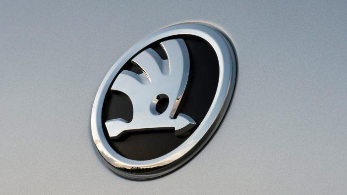 Das Logo des Skoda Octavia.