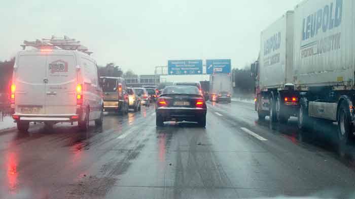 Wintersportverkehr erhöht Staugefahr