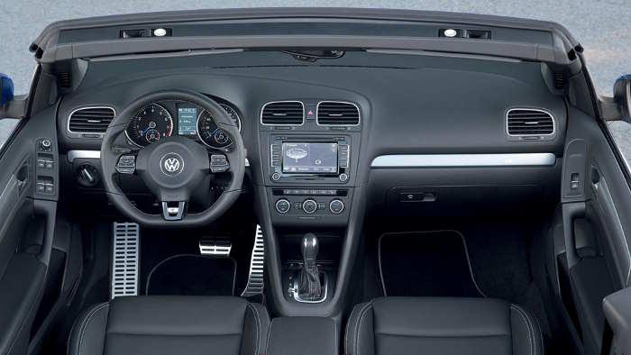 Das Cockpit des VW Golf Cabrio R
