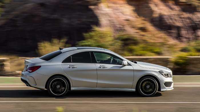 Seitenlinie des neuen Mercedes CLA