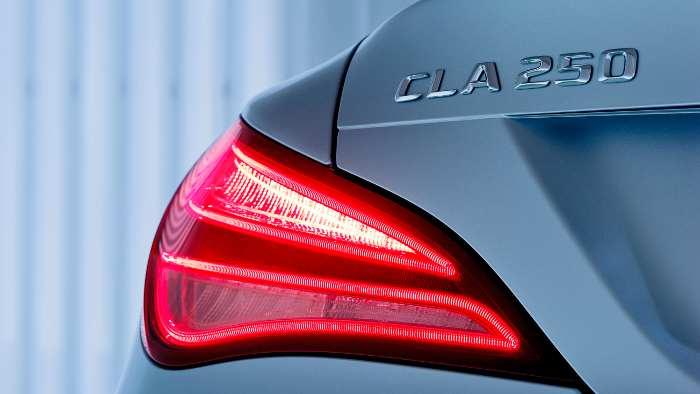 Rücklicht am Mercedes CLA.