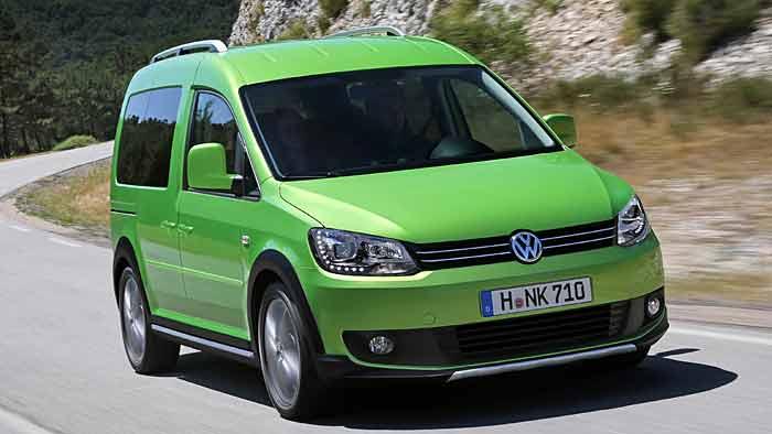 Anders als die anderen Cross-Modelle wird der VW Cross Caddy mit vier Rädern angetrieben.