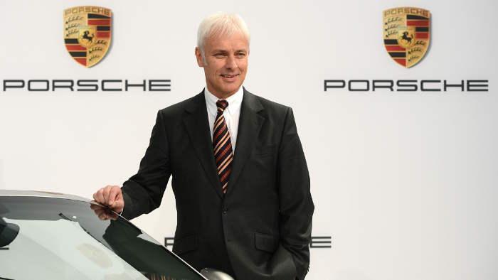Matthias Müller noch als Porsche-Chef