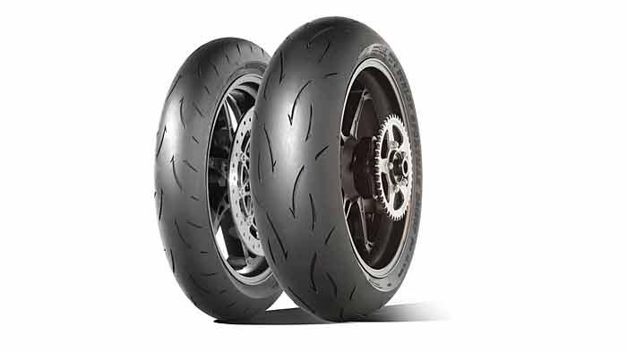 Der Dunlop D212 GP Pro bietet maximalen Grip in SChräglage.