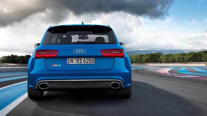 Das Heck des Audi RS6 Avant.