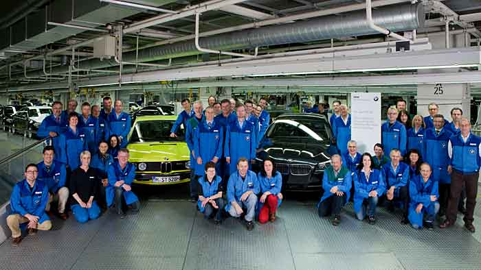 In 40 Jahren produzierte das BMW-Werk in Dingolfing sechs Millionen 5er.