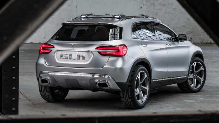 Das Heck des Mercedes GLA Concept.