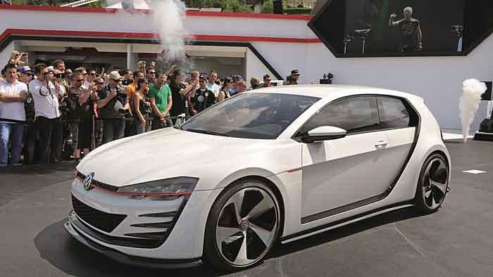 Die Studie VW Golf Design Vision GTI wurde mit 503 PS bestückt.