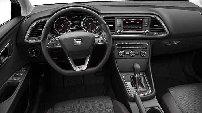 Das Cockpit des neuen Seat Leon.