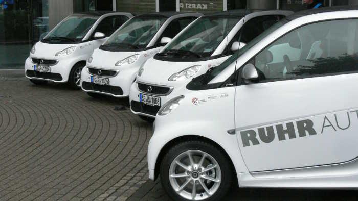 Zehn Elektro-Smarts ergänzen die Flotte von Ruhrauto-e.