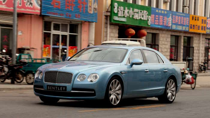Der Bentley Flying Spur unterwegs in China