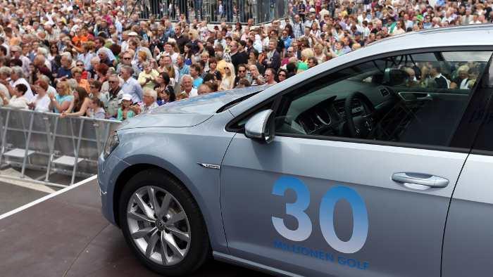 VW feiert den 30-millionsten Golf.