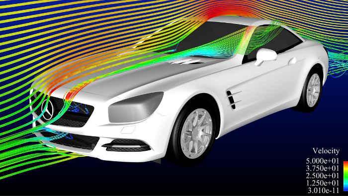 Aerodynamik-Forschung bei Mercedes.