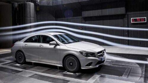 Mercedes CLA im Windkanal