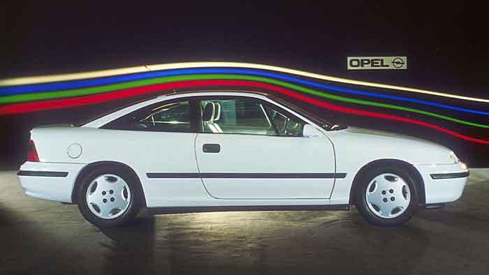 Der Opel Calibra im Windkanal
