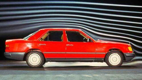Die Mercedes E-Klasse war die erste Limousine mit einem Cw-Wert unter 0,30.
