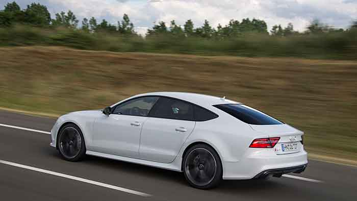 Der Audi RS 7 Sportback erreicht in unter vier Sekunden Tempo 100.