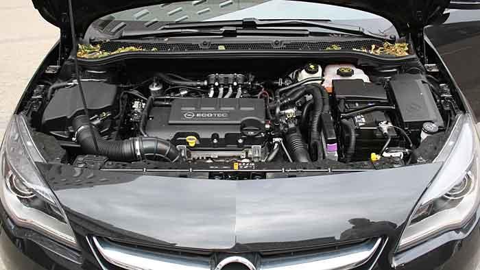 Der Opel Astra 1.4 mit LPG.