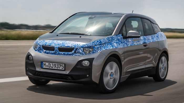 Der BMW i3 kommt im Herbst auf den Markt, dann ungetarnt.