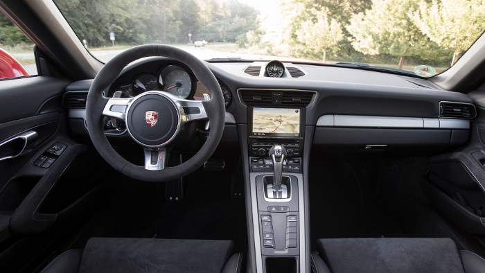 Das Cockpit des Porsche 911 GT3