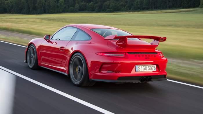 Das Heck des Porsche 911 GT3