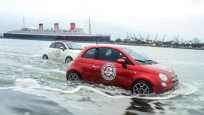 Surfin' USA mit dem Fiat 500