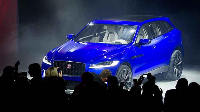 Die Jaguar-Studie C-X17 könnte als F-Pace in Graz vom Band laufen.