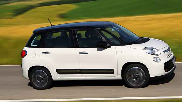 Der Fiat 500L misst 4,15 Meter in der Länge.