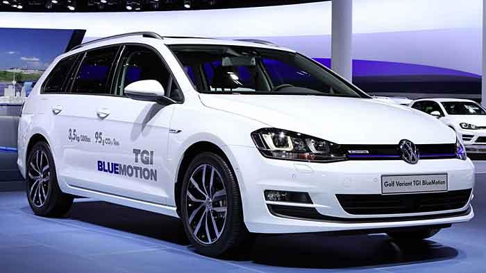 Der VW Golf Variant TGI Bluemotion ist das siebte Erdgas-Modell des Herstellers.