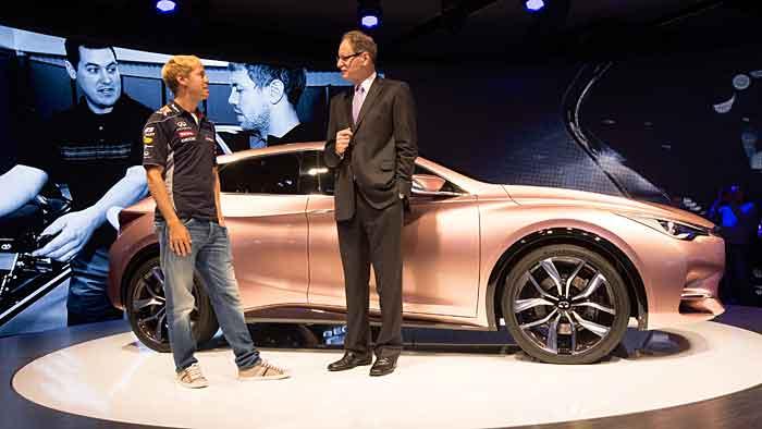 Sebastian Vettel, Infiniti-Präsident Johann de Nysschen